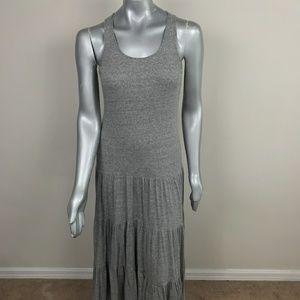 CAbi Maxi Dress Ruffles Sleeveless Gray Sz: S